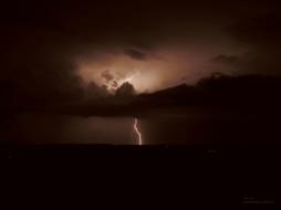 природа, молния, гроза, ночь, тучи