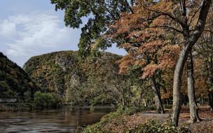 autumns, colors, природа, реки, озера, деревья, горы, река, леса