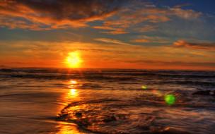 sunset, природа, восходы, закаты, отблеск, океан, лучи, закат
