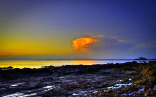 MOVING CLOUD обои для рабочего стола 1920x1200 moving, cloud, природа, побережье, утро, облако