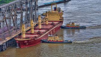 ship, docking, корабли, разные, вместе, буксиры, док, корабль