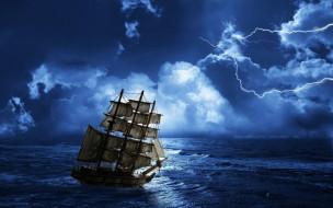 Stormy Seas обои для рабочего стола 2560x1600 stormy, seas, корабли, парусники, шторм, океан, корабль