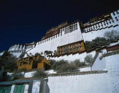 города, буддистские, другие, храмы, тибет, резиденция, далай, ламы