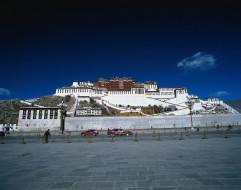 города, буддистские, другие, храмы, резиденция, далай, ламы, тибет