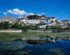 города, буддистские, другие, храмы, резиденция, далай, ламы, тибет, potala palace, lhasa, tibet