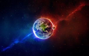 обои для рабочего стола 2560x1600 космос, арт, земля, планета, бассейн