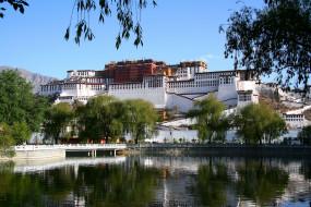 города, буддистские, другие, храмы, тибет