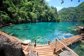 кayangan, lake, palawan, islands, филиппины, природа, реки, озера, озеро, тропики