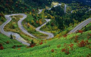 природа, дороги, дорога, горы