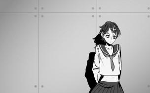 sayonara, zetsubo, sensei, аниме, форма, девочка, стена