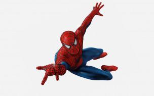 Человек паук обои для рабочего стола 1920x1200 Человек, паук, рисованные, комиксы, белый, фон, красный, spider-man, Человек-паук