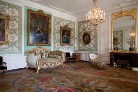 версаль, интерьер, дворцы, музеи, диван, портреты, зеркало, позолота, люстра