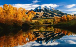 обои для рабочего стола 1920x1200 природа, пейзажи, осень, отражение, деревья, горы, река