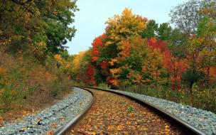 обои для рабочего стола 1920x1200 разное, транспортные, средства, магистрали, железная, дорога, осень, пейзаж