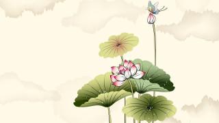 обои для рабочего стола 1920x1080 рисованные, цветы, бабочки