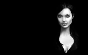 Angelina Jolie обои для рабочего стола 1920x1200 angelina, jolie, рисованные, люди, анджелина, джоли, темный, фон
