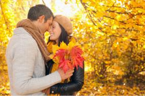 фото мужчина и женщина осень