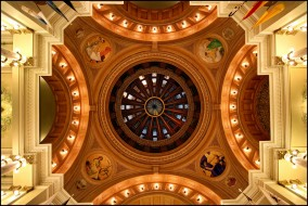 обои для рабочего стола 1638x1096 интерьер, дворцы, музеи, рисунки, купол, колонны