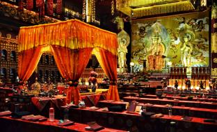 обои для рабочего стола 1900x1159 интерьер, убранство, роспись, храма, сингапур, храм, будды