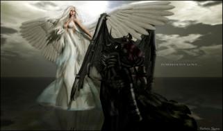 3д, графика, angel, ангел, запретная, любовь, демон