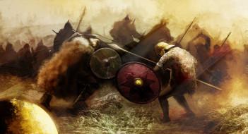 битва, рисованные, армия, сражение, война, поединок