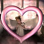 3д, графика, angel, ангел