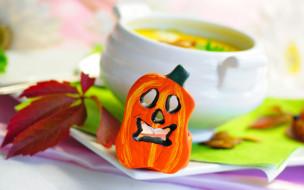 еда, первые, блюда, тыква, хеллоуин