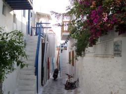 греция, mikonos, города, улицы, площади, набережные, дома, улица