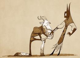 рисованные, другое, козел