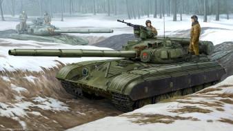 рисованные, армия, т-64, советский, танк, ссср