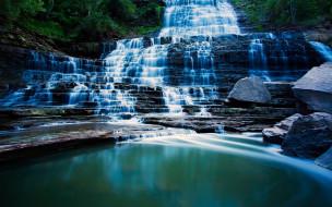 Hamilton ontario природа водопады каскад