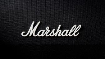 marshall, speakers, бренды, надпись