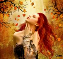 -Unsort Креатив, осень, девушка