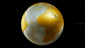 обои для рабочего стола 1920x1080 космос, арт, земля, глобус, планета, золото