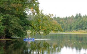 нижегородский, край, природа, реки, озера, озеро, рыбак, лодка