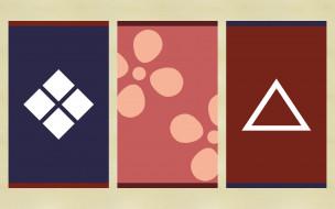 аниме, samurai, champloo, fuu, эмблемы, jin, mugen