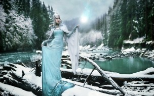 -Unsort Креатив, девушки, unsort, креатив, река, зима