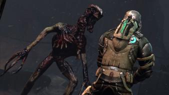 Dead Space 3 обои для рабочего стола 1920x1080 dead, space, видео, игры, космонавт, скафандр, зомби