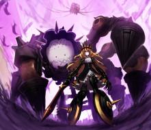 аниме, black, rock, shooter, chariot