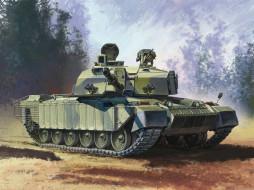 обои для рабочего стола 2560x1920 рисованные, армия, сухопутных, Челленджер, 2, challenger, основной, боевой, танк, великобритании, войск
