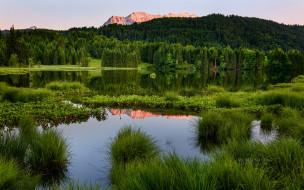 обои для рабочего стола 1920x1200 природа, реки, озера, трава, озеро, горы, лес, зелень, michael, breitung, photography