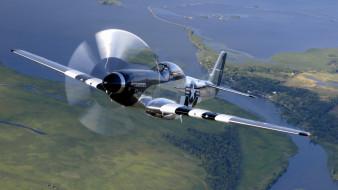 51, mustang, авиация, лёгкие, одномоторные, самолёты, истребитель, одноместный, американский