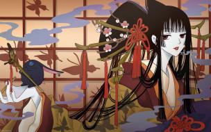 аниме, xxxholic, девушка, взгляд, бабочки