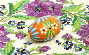праздничные, пасха, вышивка, яйцо