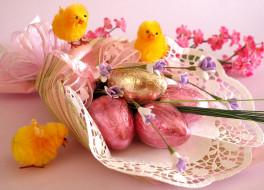 праздничные, пасха, цыплята, яйца