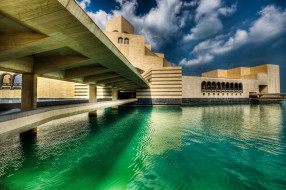 города, здания, дома, катар, музей, искусств, ислама, doha, qatar