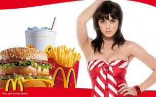 mcdonald`s, бренды, бургер, кока, картошка, девушка