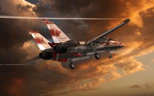 авиация, 3д, рисованые, graphic, истребитель, палубный, посадка, аэрофинишер