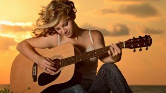 музыка, другое, девушка, гитара