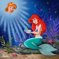 мультфильмы, the, little, mermaid, ракушка, русалка